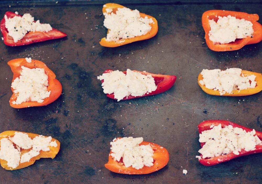 Feta Stuffed Peppers | Rainbow Delicious