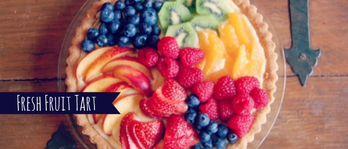 ina garten fresh fruit tart with orange, raspberry strawberry peach blueberry and kiwi