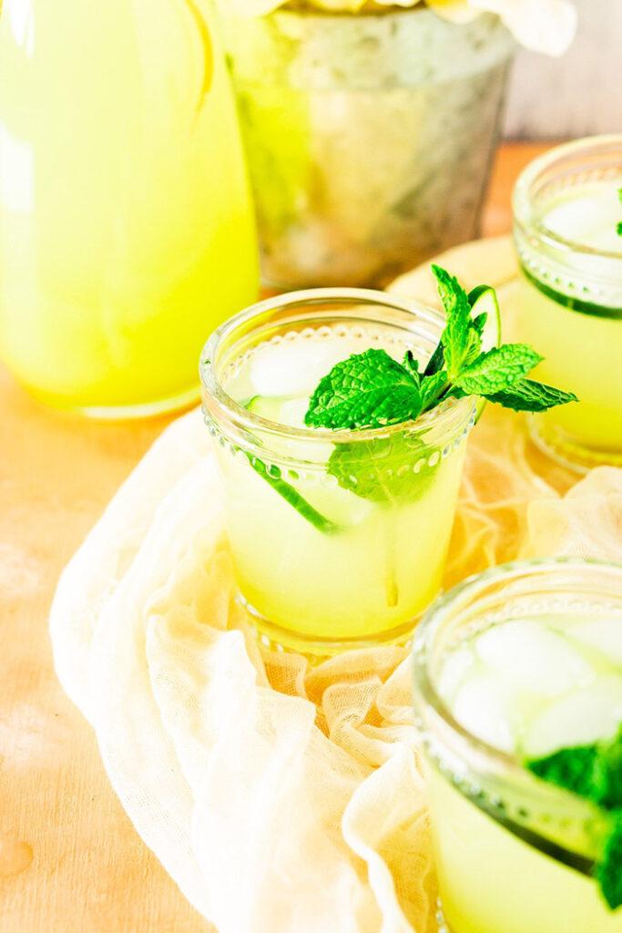cucumber mint lemonade - unique lemonade flavors