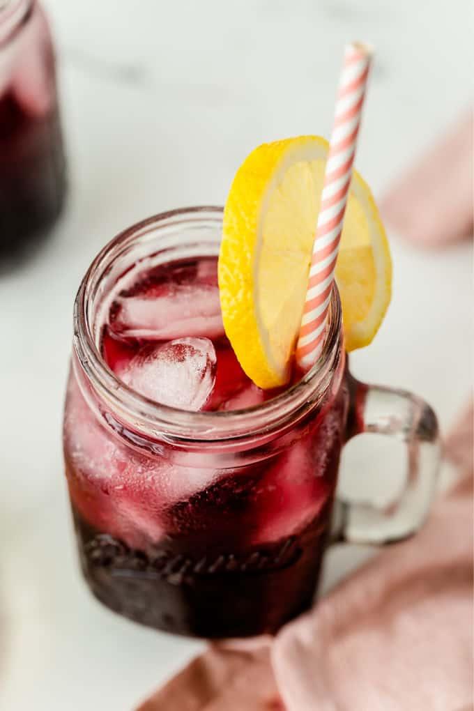 sparkling grape lemonade - unique lemonade flavors