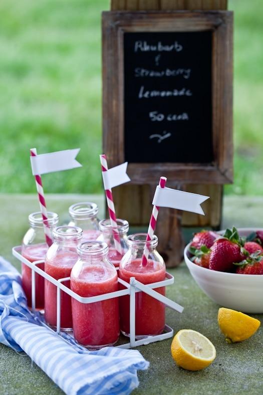 Strawberry Rhubarb Lemonade, unique lemonade recipe