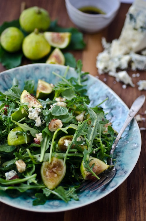arugula fig and blue cheese salad