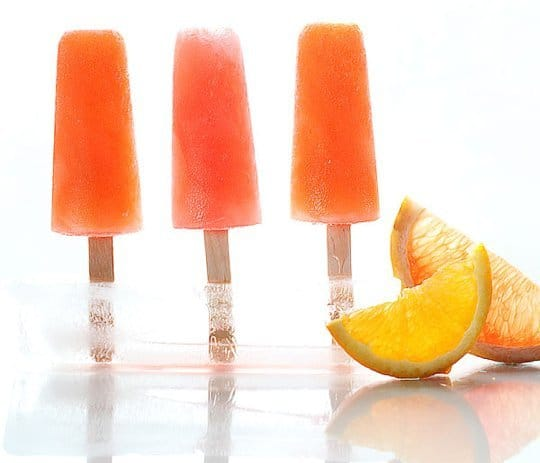 boozy campari citrus pops