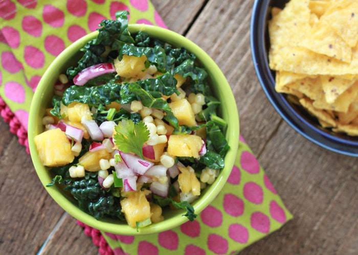 pineapple corn kale salsa