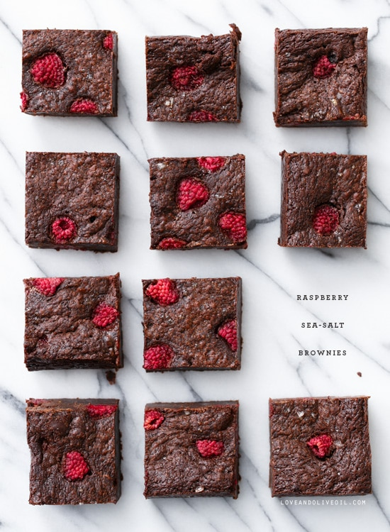 raspberry sea salt brownies  + 9 other fresh and delicious summer desserts | Rainbow Delicious