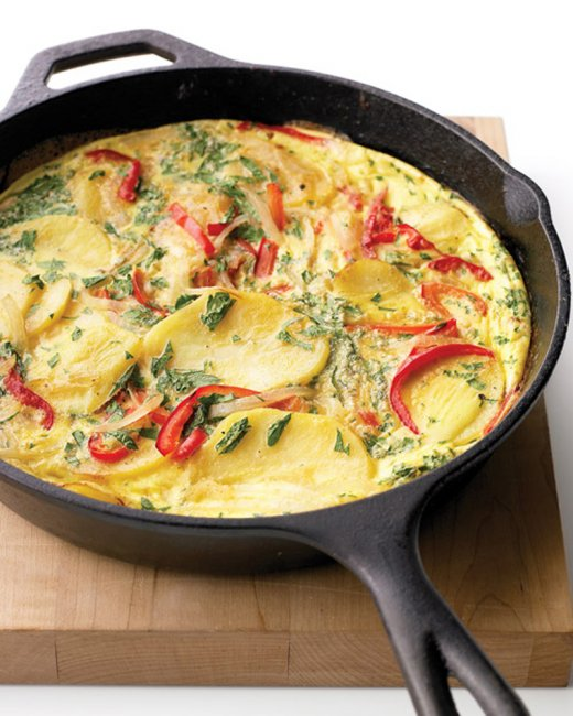 spanish tortilla with bell peppers