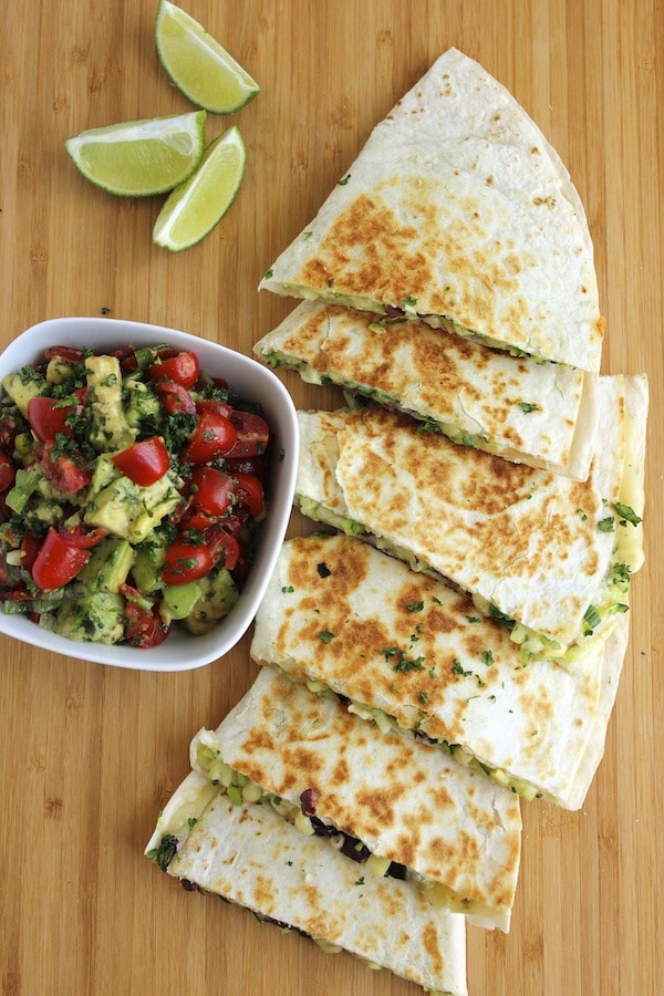 quesadilla zucchini corn and olive quesadillas | Easy Vegetarian Quesadilla Ideas