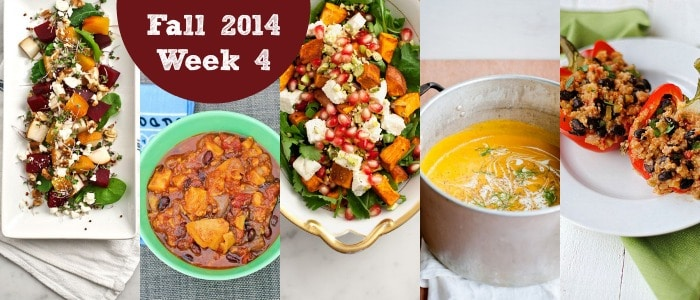 Meal Plan: Fall 2014 Week 4