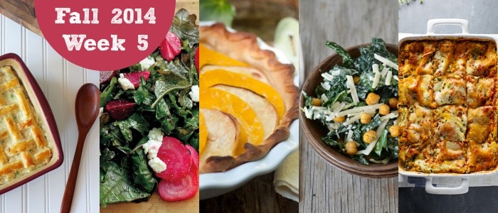 Meal Plan: Fall 2014 Week 5
