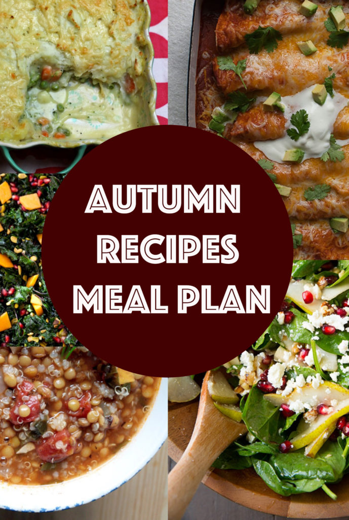 Autumn Recipes Meal Plan