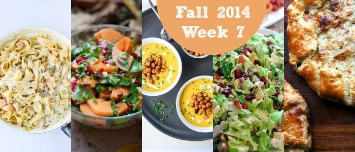 Fall 2014 Week 7 Meal Plan