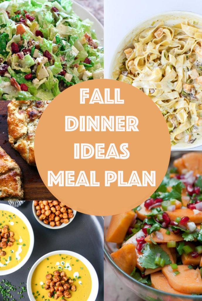Fall Dinner Ideas Meal Plan