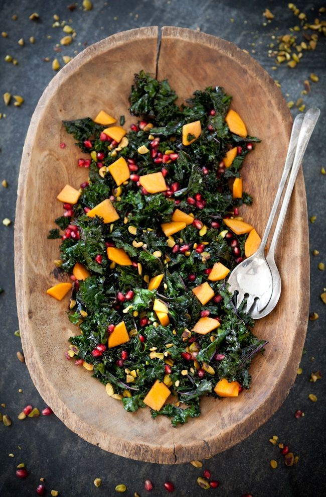 Autumn Recipes Meal Plan : Kale + Pomegranate + Persimmon Salad + 4 other delicious recipes in this week's Fall meal plan | Rainbow Delicious