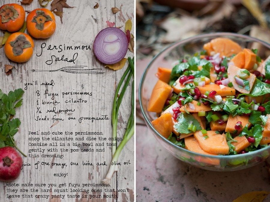 Fall Dinner Ideas : Persimmon Fall salad + 4 other delicious recipes in this week's Fall meal plan | Rainbow Delicious