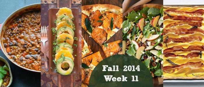 Fall 2014 Week 11 Meal Plan