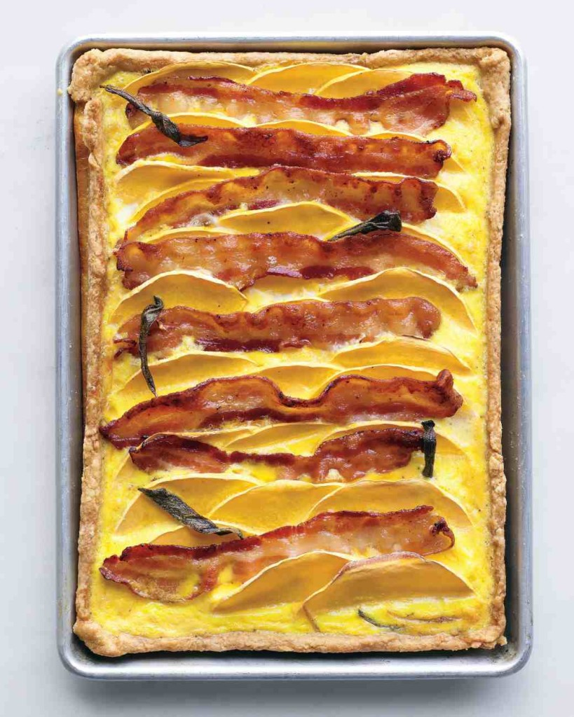 healthy dinner recipes: butternut squash and bacon quiche + 4 other delicious and healthy dinner recipes in this week's Winter meal plan | Rainbow Delicious