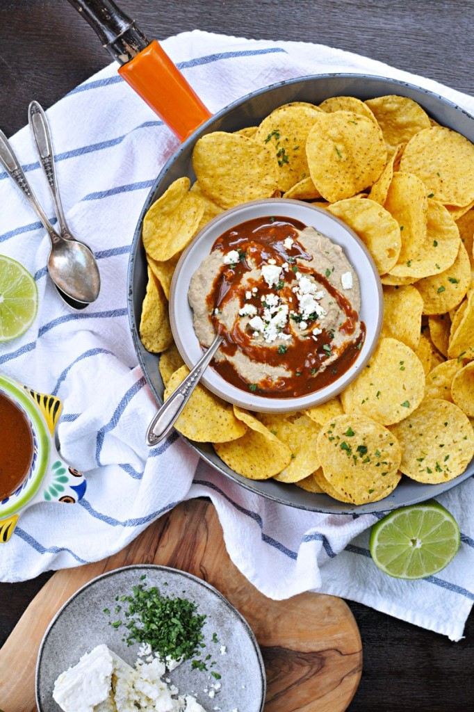 toasted walnut enchilada hummus with cilantro lime + 9 other delicious and unique game day snacks perfect for the Super Bowl | Rainbow Delicious