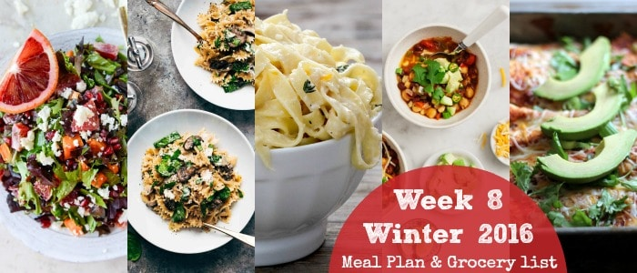 Healthy Dinner Recipes: Winter 2016 Week 8