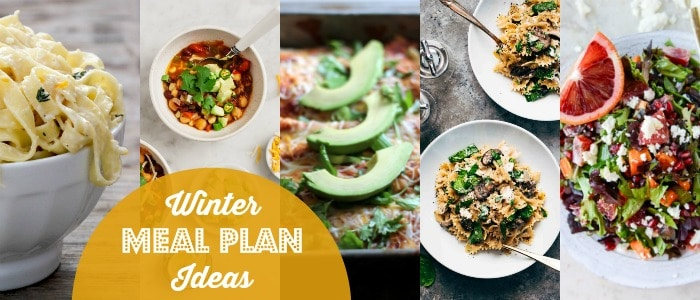 Winter Meal Plan Ideas Rainbow Delicious