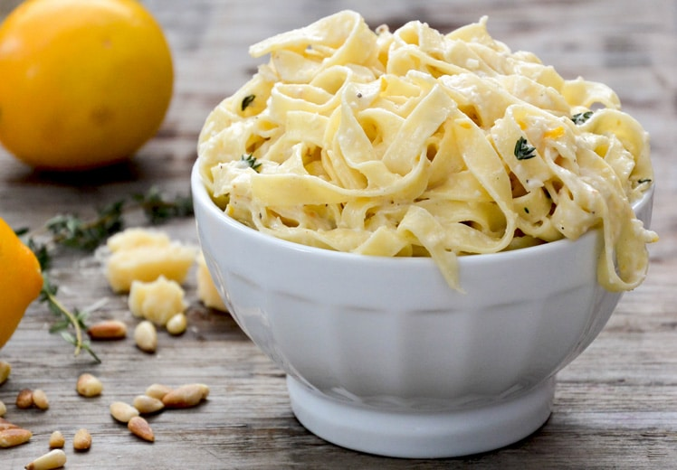 meyer lemon fettucine + 4 other delicious recipes in this week's Winter meal plan | Rainbow Delicious