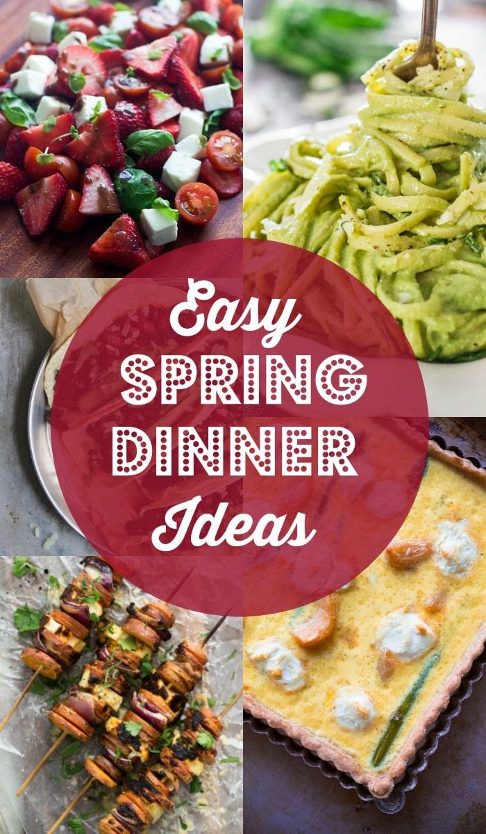 Easy Spring Dinner Ideas Meal Plan