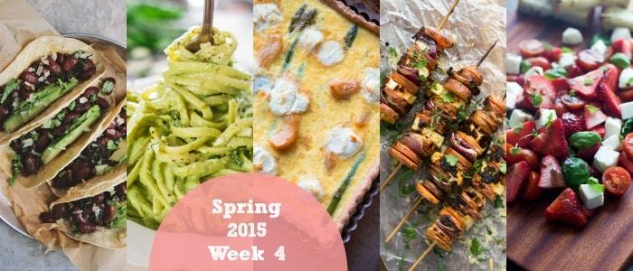 Meal Plan: Spring 2015 Week 4
