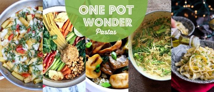 One Pot Wonder Pastas Meal Plan Rainbow Delicious
