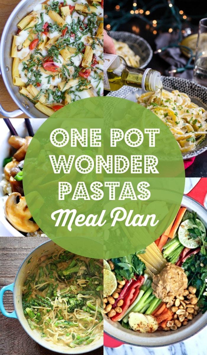 One Pot Wonder Pastas Meal Plan