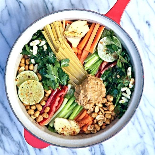 One-Pot Pasta Recipes- Peanut Thai Pasta | Rainbow Delicious Meal Plans