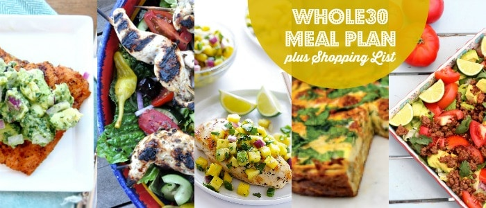 Whole30 Meal Plan plus Shopping List Rainbow Delicious