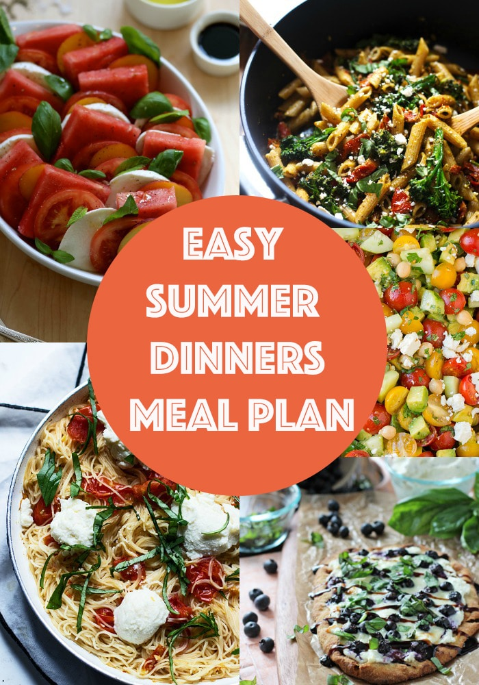 Easy Summer Dinners Meal Plan