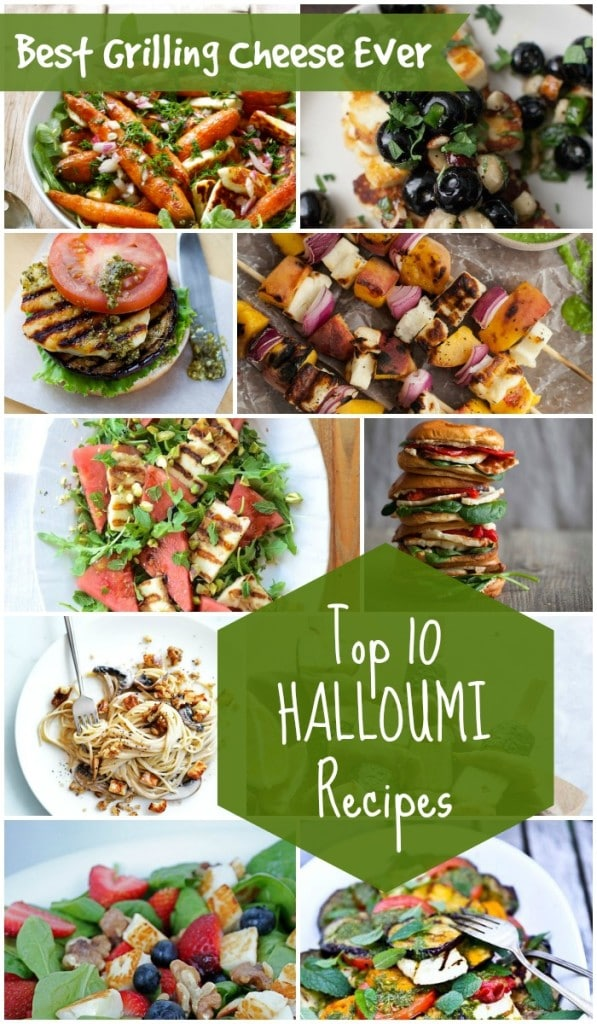 Top 10 Halloumi Recipes You Will Love. It is the best grilling cheese ever and perfect addition to healthy salads, barbeque skewers, or pastas | Rainbow Delicious