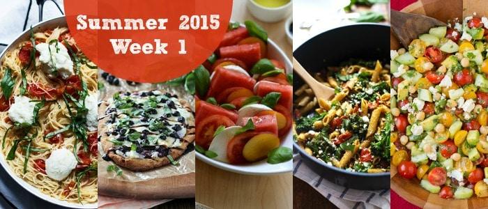 Meal Plan: Summer 2015 Week 1