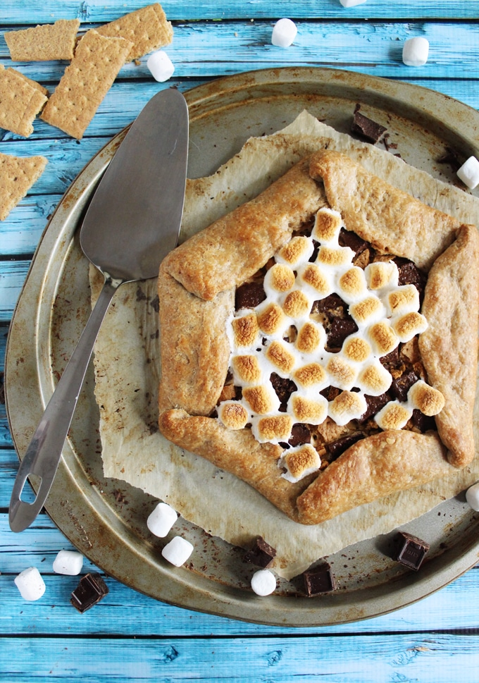 s'mores recipes : peanut butter smores galette