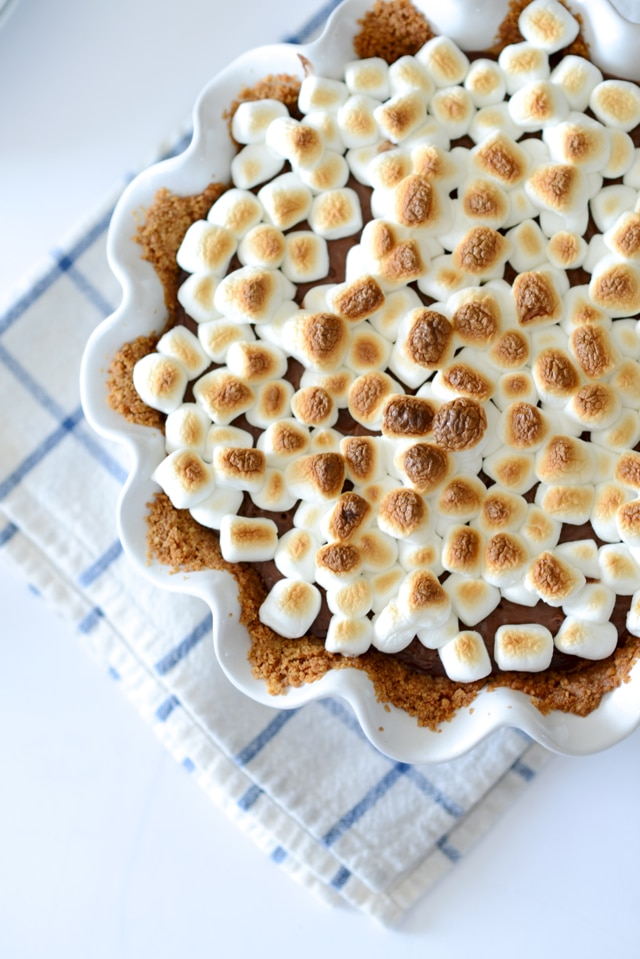 s'mores recipes : smore pudding pie recipe