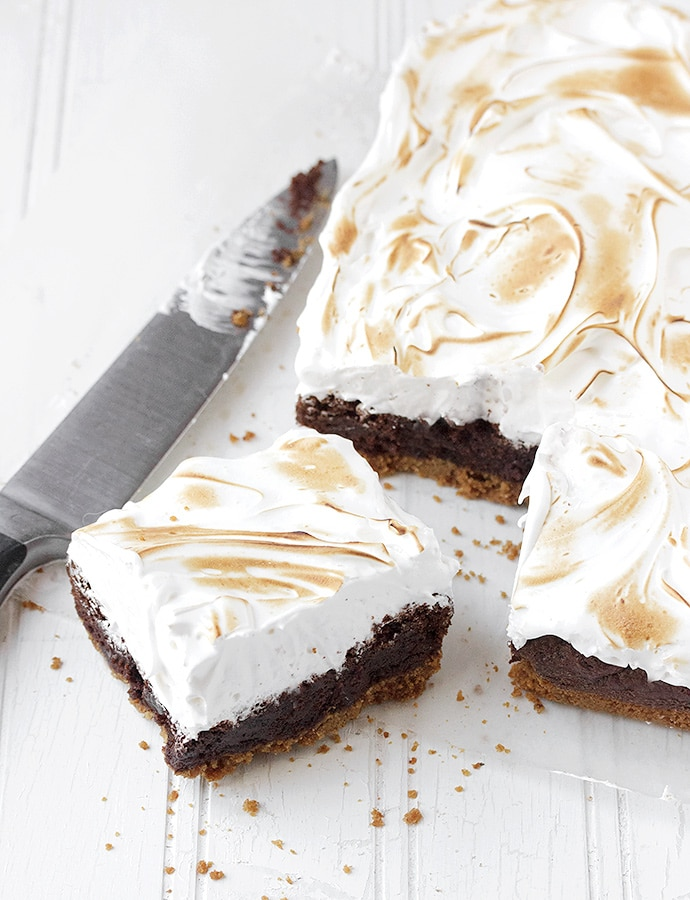 s'mores recipes : smores brownie bars