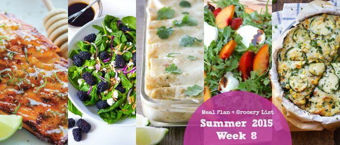 Meal Plan: Summer 2015 Week 8