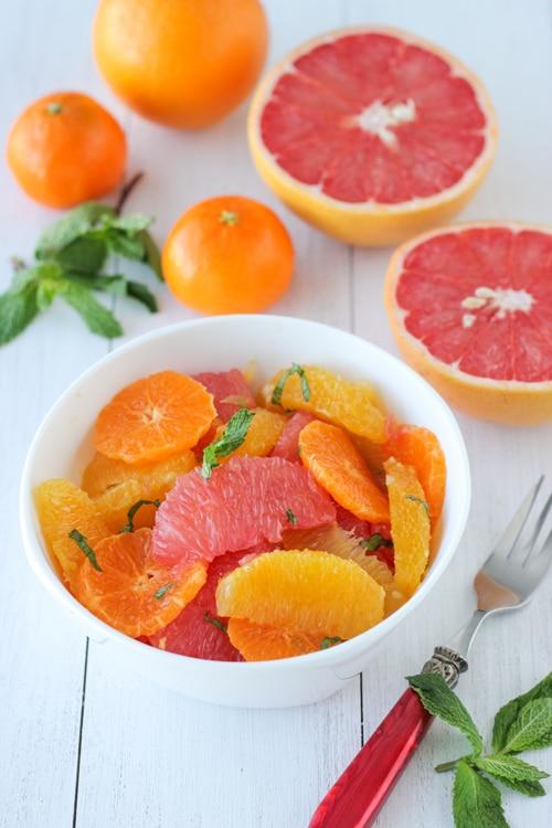Citrus Mint Salad | 20 Amazing Citrus Recipes on Rainbow Delicious