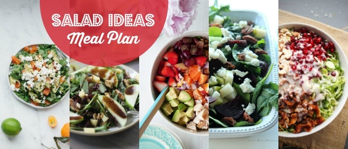 Salad Ideas Meal Plan Rainbow Delicious