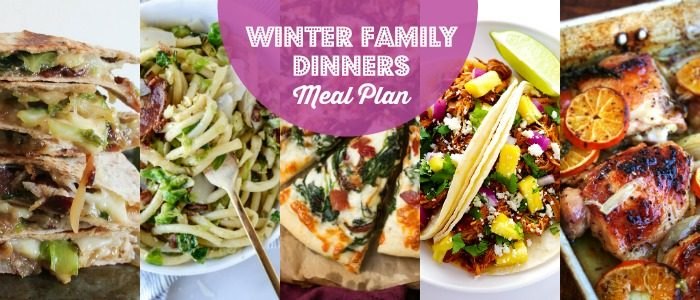 Winter Family Dinners Meal Plan