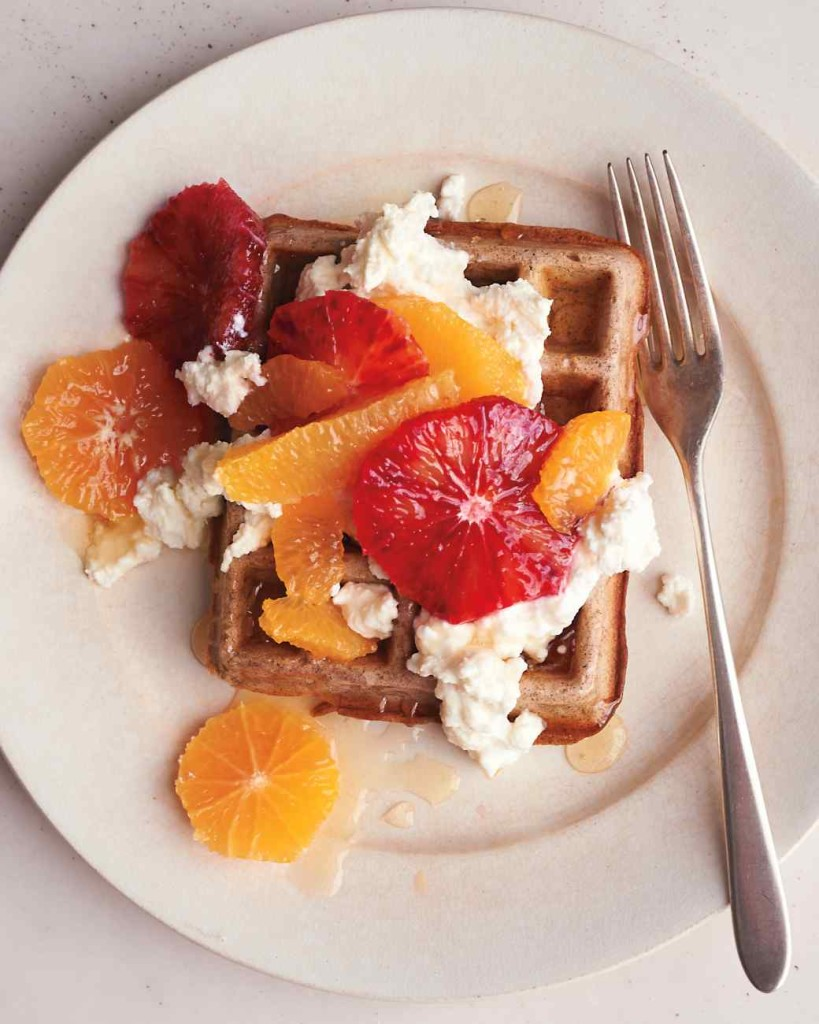 buckwheat waffles with citrus and ricotta | 20 Amazing Citrus Recipes on Rainbow Delicious