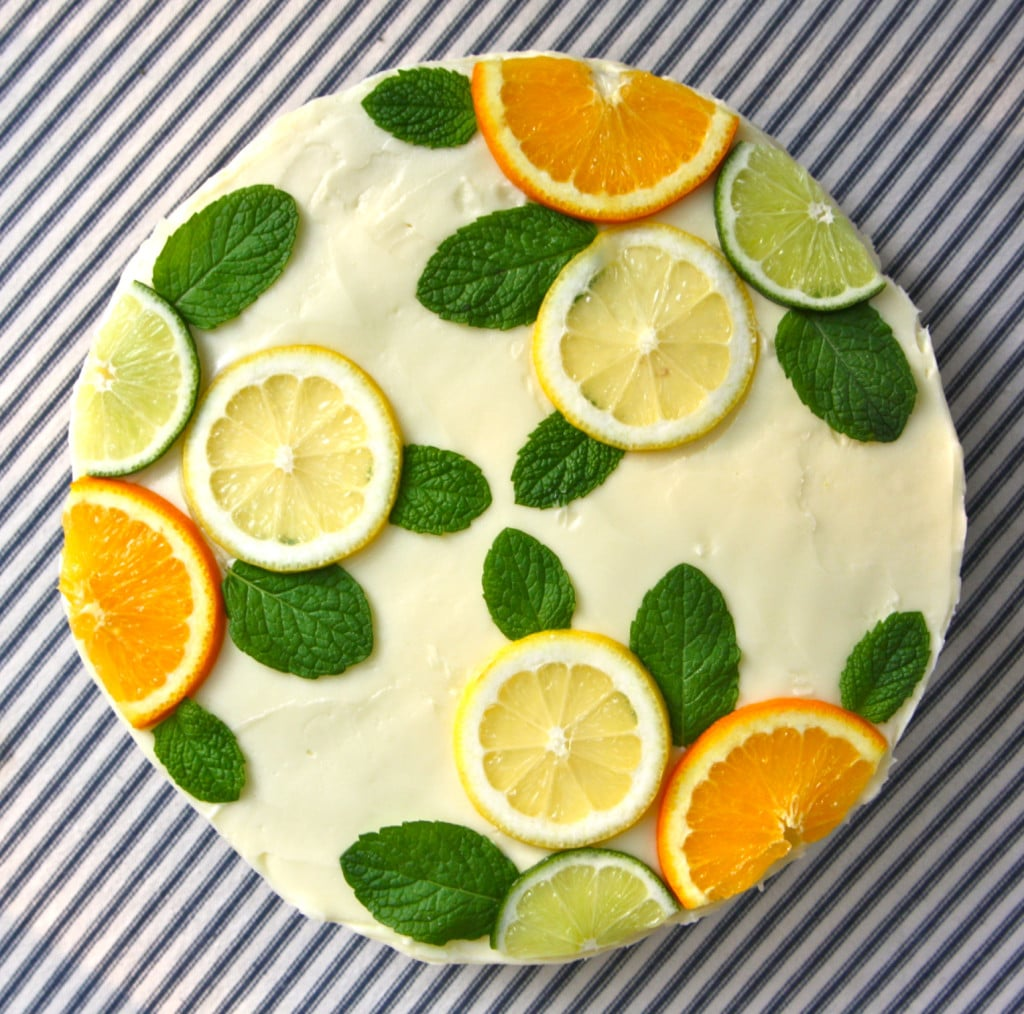 Lemon Cake With Lime Frosting