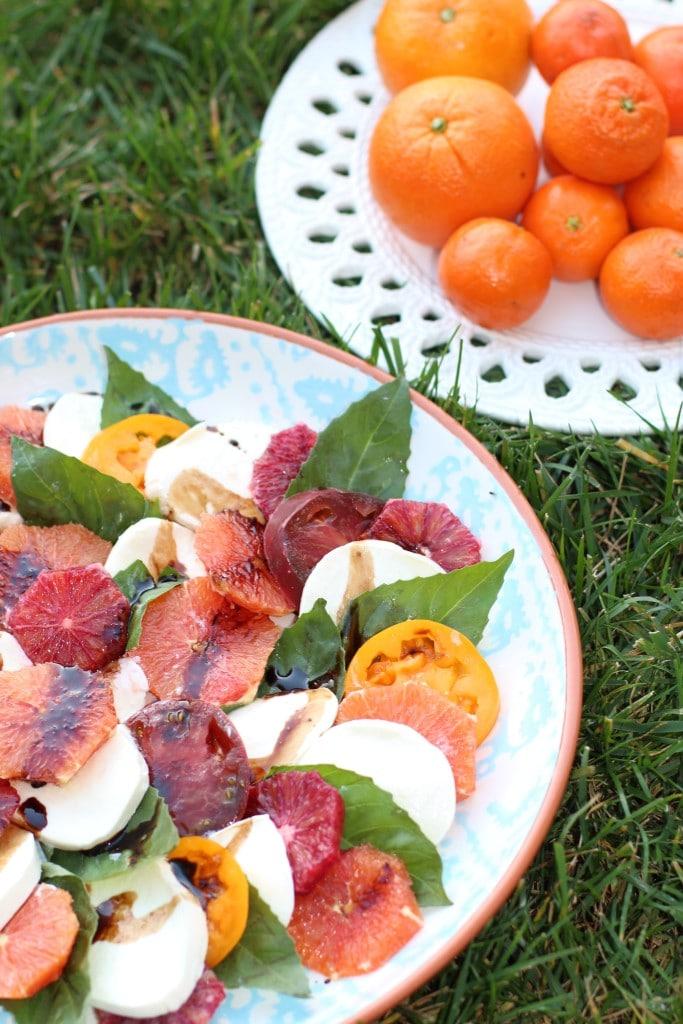 citrus caprese | 20 Amazing Citrus Recipes on Rainbow Delicious
