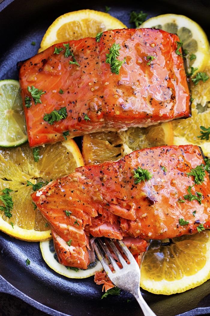 grilled triple citrus salmon | 20 Amazing Citrus Recipes on Rainbow Delicious