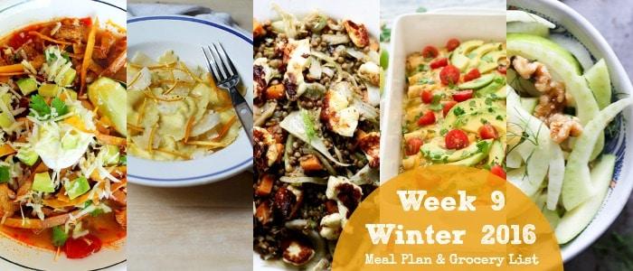 Healthy Dinner Recipes: Winter 2016 Week 9
