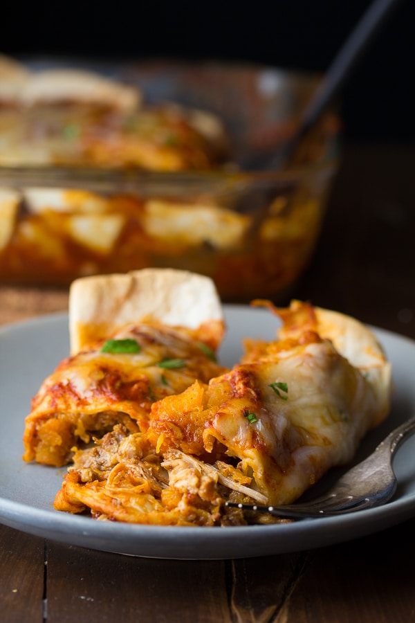 healthy-dinner-ideas-Maple-Pork-and-Butternut-Squash-Enchiladas-7