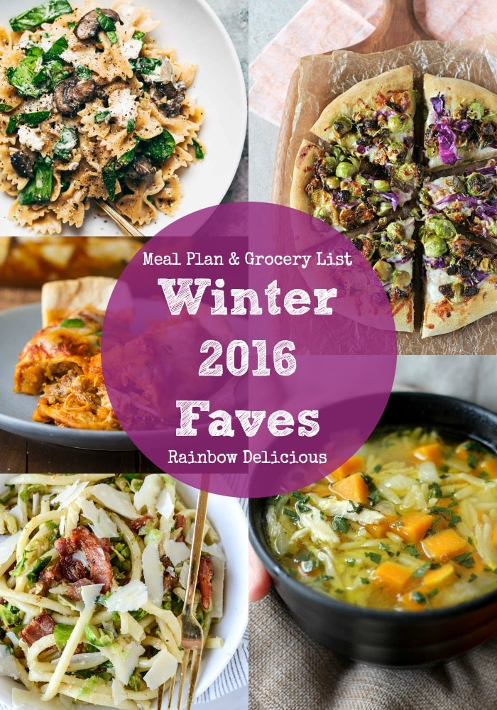 Healthy Dinner Recipes Winter 2016 Faves | Rainbow Delicious