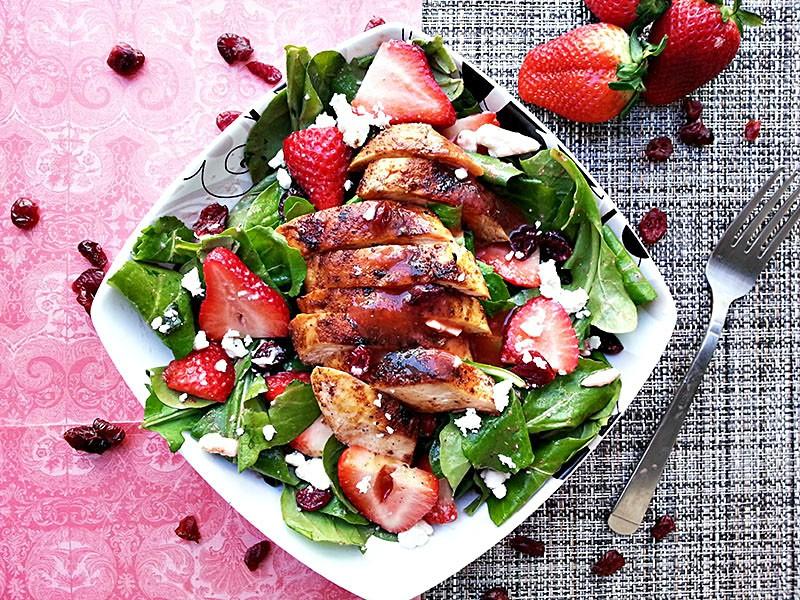 Blackened Chicken Salad Recipe - Healthy Salad Recipes Meal Plan | Rainbow Delicious
