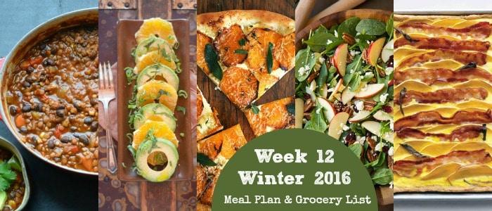 Healthy Dinner Recipes: Winter 2016 Week 12