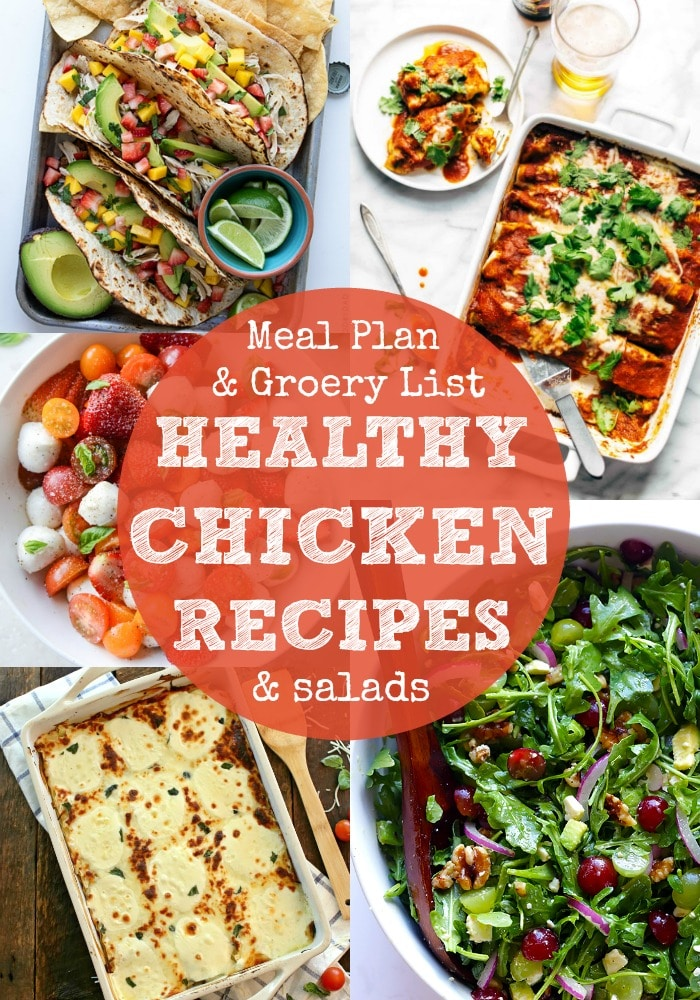 Healthy Chicken Dinner Recipes and Salads Rainbow Delicious